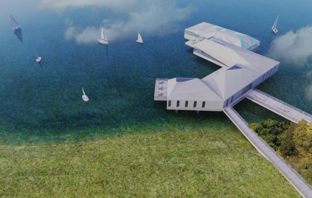 floating eco-resort plan